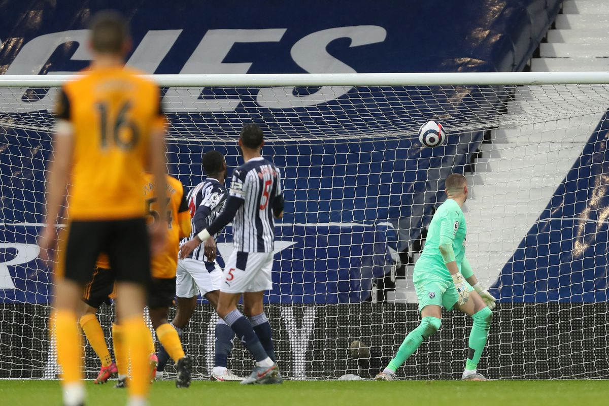 Fabio Silva of Wolverhampton Wanderers scores a goal to make it 0-1. (AMA)