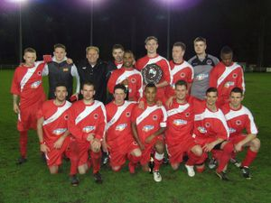 Walsall Wood show of the spoils of their success after winning the 2013 Premier Cup (Picture: Simon Cater)