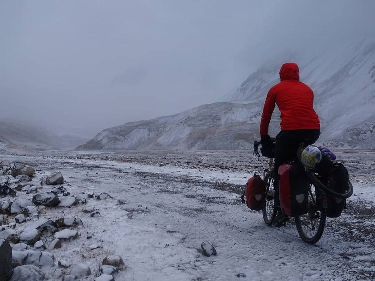 Nick cycling in Kyrgyzstan