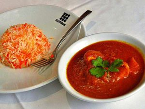 Tender times – murgh tariwala and saffron rice. Pictures by Steve Leath