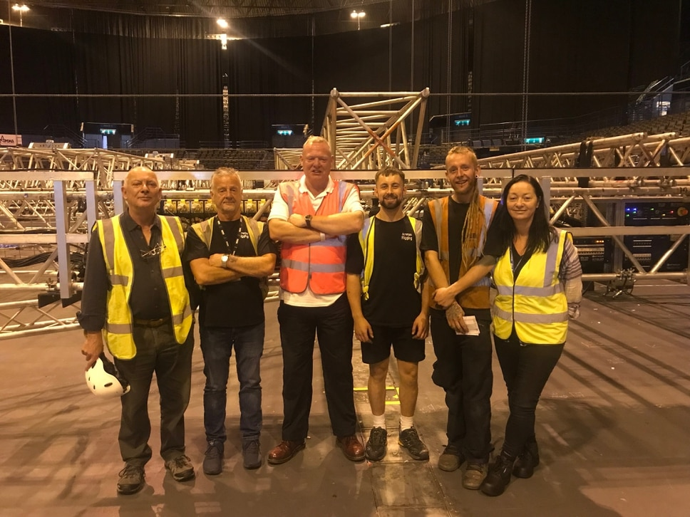 NEC Group apprentices become first in the UK to pass rigging apprenticeships