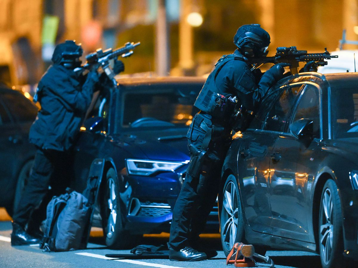 Armed police in Smethwick. Pic: SnapperSK