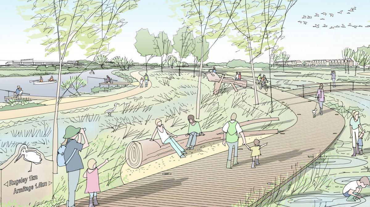 Artist's impression of the Riverside Park