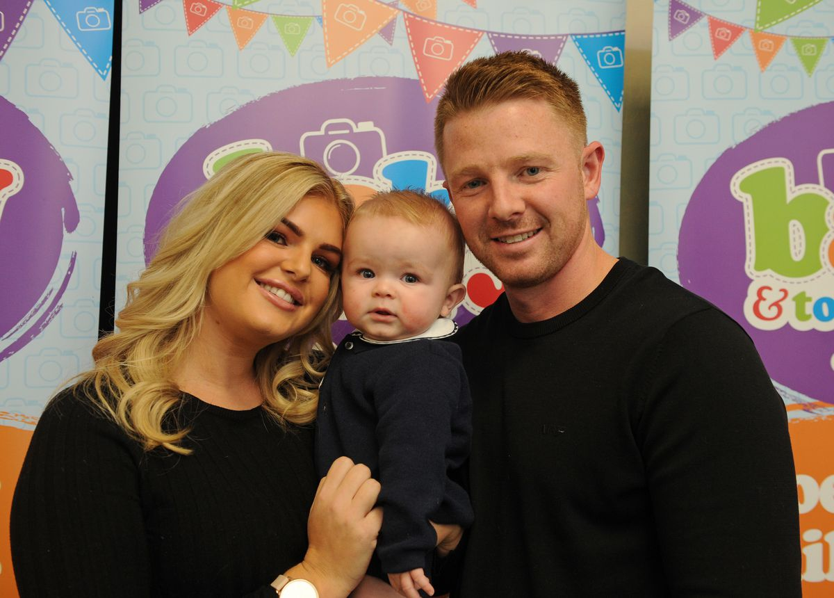 Winner for the zero to nine months category Louie Ellis, with mother and father Lynsey and Sean Ellis