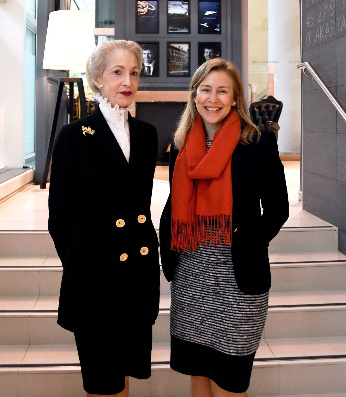 IoD Chairman Lady Barbara Judge CBE, left, with Rebecca McNeil, chief operating officer with Barclays Business Banking