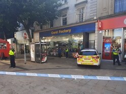 Police cordon off Wolverhampton city centre after man seriously injured