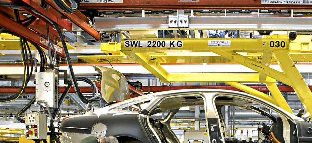 Production of the Jaguar XJ at the Castle Bromwich factory