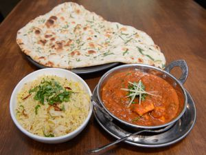 Spice up your life – a curry with naan bread and rice is perfect for a Saturday night feast