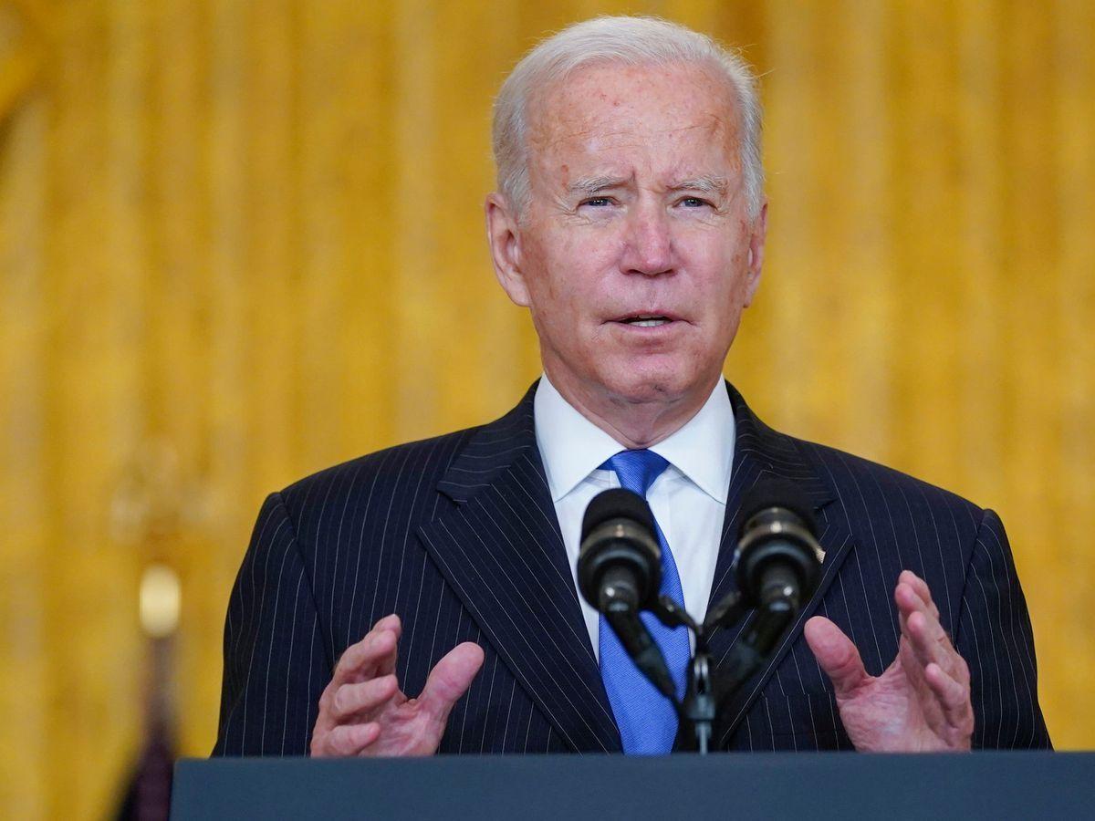 President Joe Biden delivers remarks