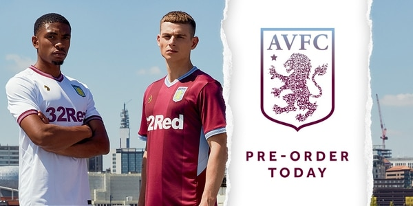 aca66253705 Aston Villa unveil new home and away 2018 19 kit