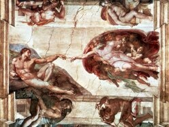 These students recreated a famous Michelangelo painting by jumping in a pool