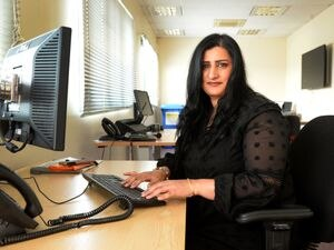 Mother-of-three Anita Chonk from City of Wolverhampton Council Taxi Licensing building, has been promoted after doing two-year apprenticeship