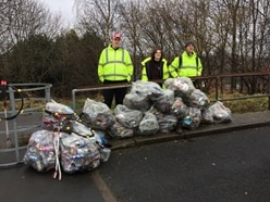 Litter pickers fill 20 bags in two hours