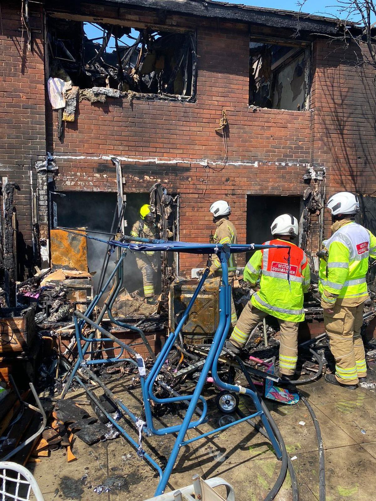 Some of the damage caused by the blaze. Photo: West Midlands Fire Service