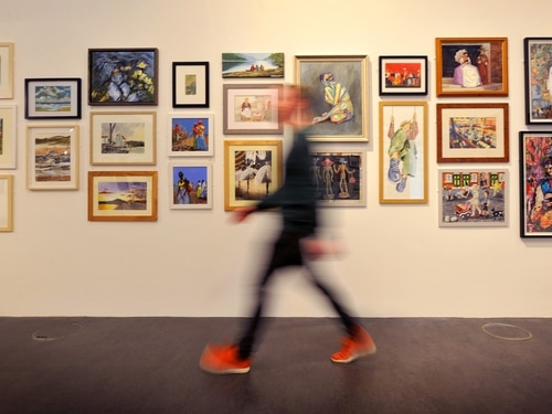 Walsall art society celebrating 70th year with exhibition - with pictures