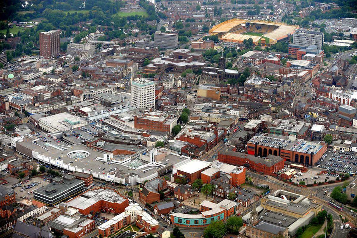 Wolverhampton from above