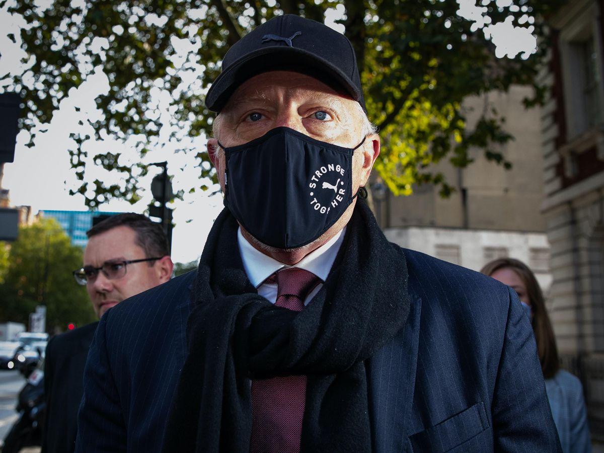 Boris Becker arrives at Westminster Magistrates' Court