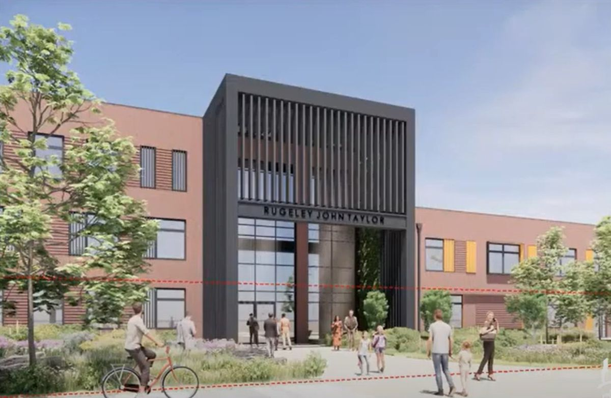 The proposed school at the former Rugeley Power Station
