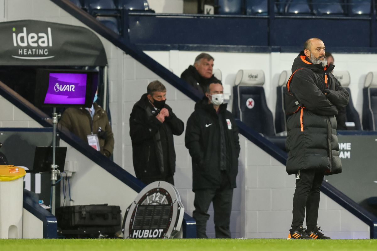 Nuno Espirito Santo the head coach / manager of Wolverhampton Wanderers looks on (AMA)
