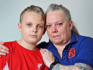 Teenager Archie Quilter, with mum Helen, suffered a fractured skull when he was hit by a car outside his school