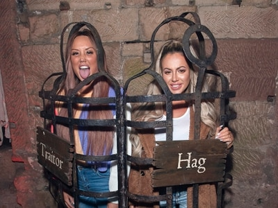 WATCH: Stars flock to Alton Towers for fright night as dungeon attraction opens - in pictures