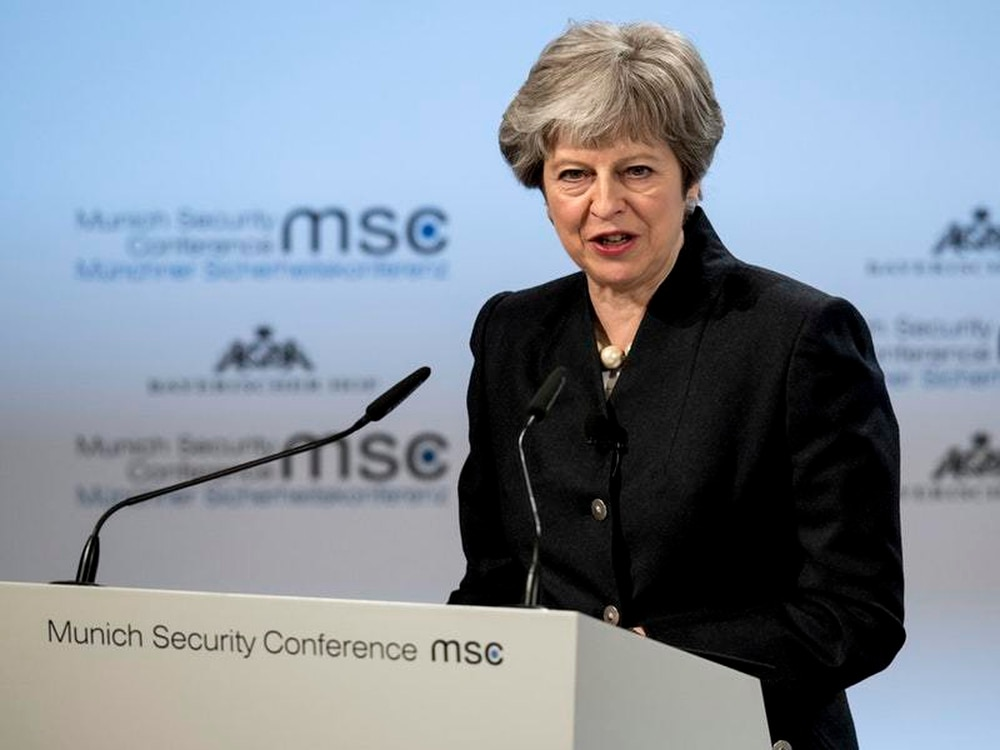 May proposes security treaty with European Union after Brexit at Munich meeting