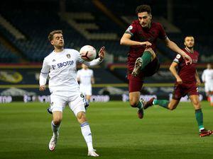 Leeds United's Patrick Bamford (left) and Wolverhampton Wanderers' Max Kilman