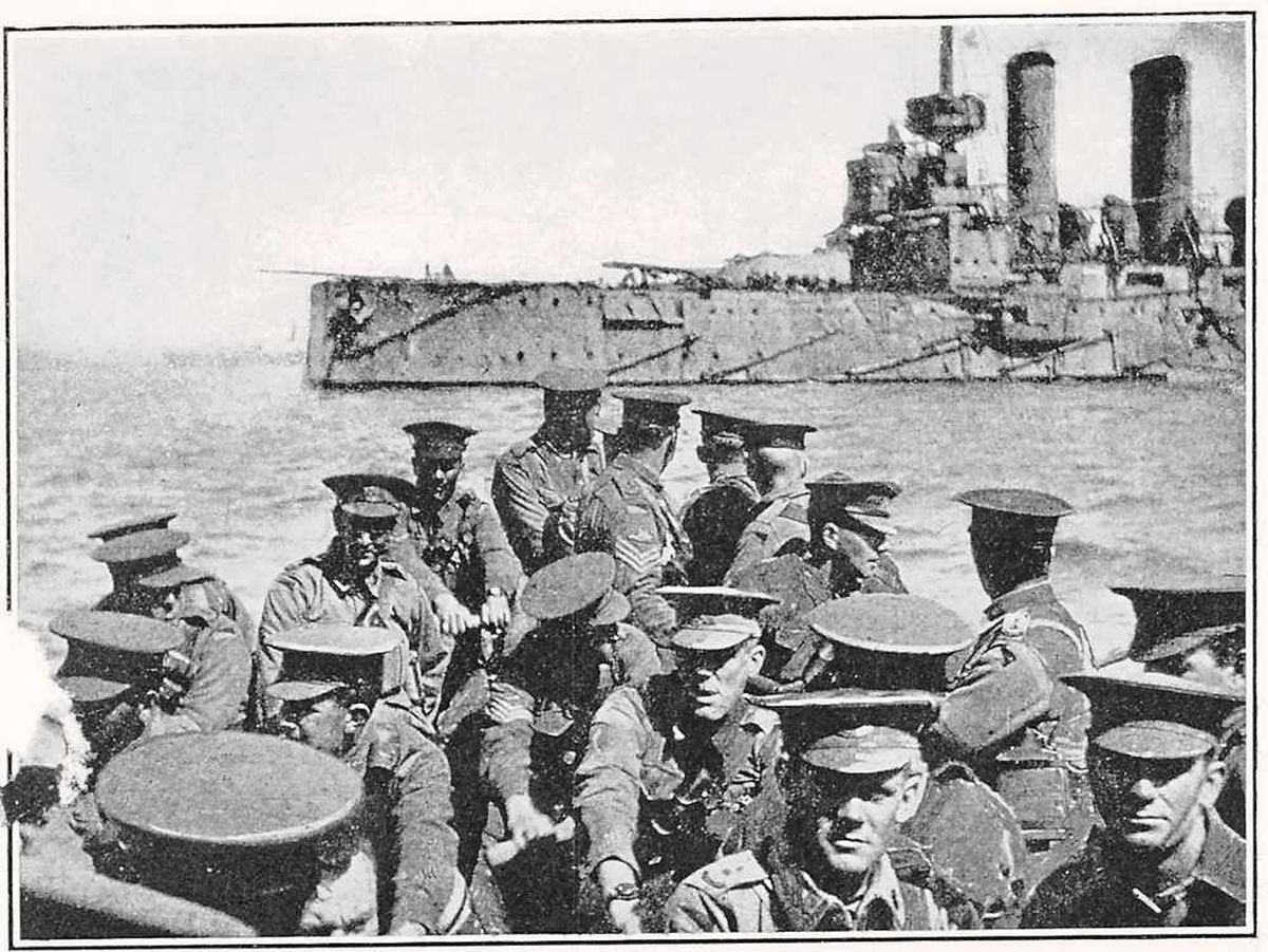 Anzac troops heading to the beach in the disastrous Gallipoli campaign
