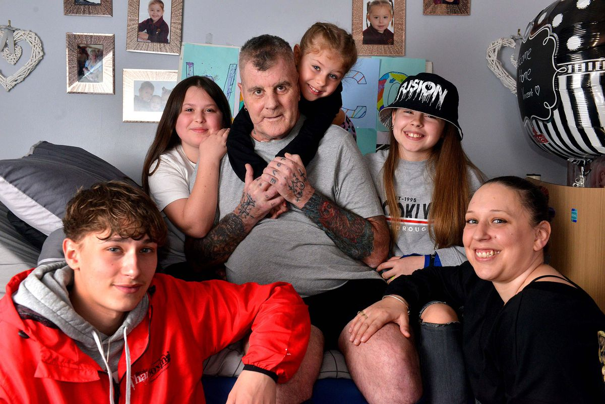 Anthony Vincent back home with wife Suzette and children Connor, Ruby, Destiny and Summer