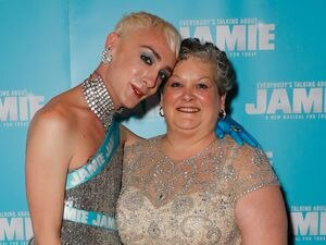 Jamie and Margaret at the opening night of Everybody's Talking About Jamie in the West End in 2017