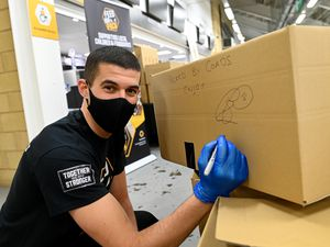 Wolves captain Conor Coady has helped pack more than 250 parcels for the Feed Our Pack initiative