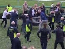 Mass brawl erupts at Haydock Park racecourse