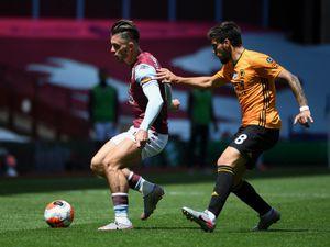 Jack Grealish of Aston Villa and Ruben Neves of Wolverhampton Wanderers (AMA/Sam Bagnall)