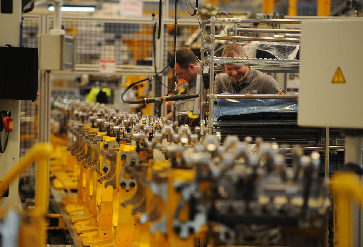 Inside the Jaguar Land Rover engine plant at the i54 near Wolverhampton