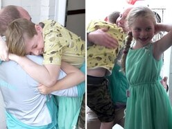 WATCH: Surprise! Stafford soldier shocks his children with Father's Day homecoming
