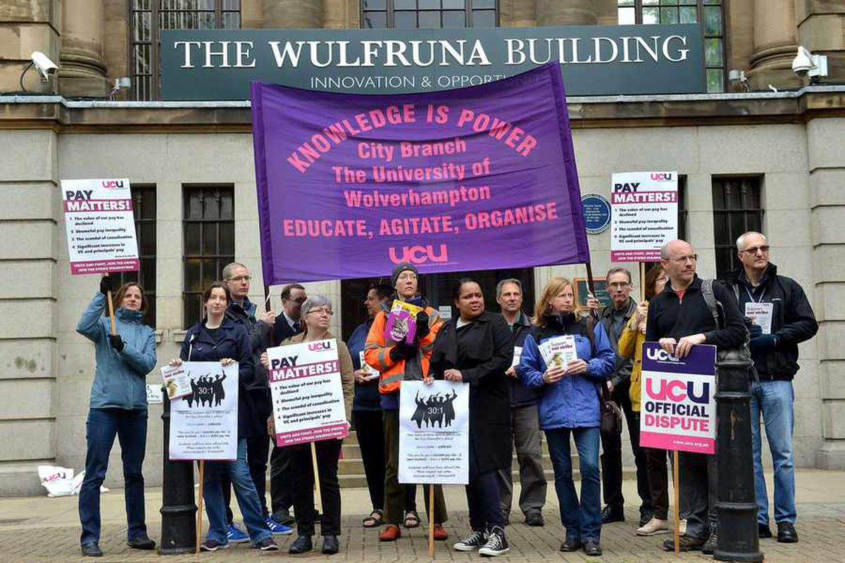 Lecturers on strike: University of Wolverhampton staff take action after pay talks fail