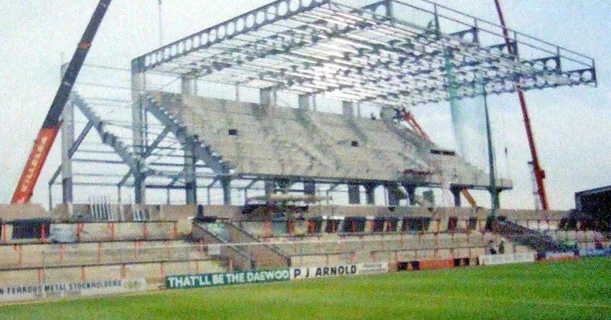 Construction to the stadium taking place during the 2002-2003 season