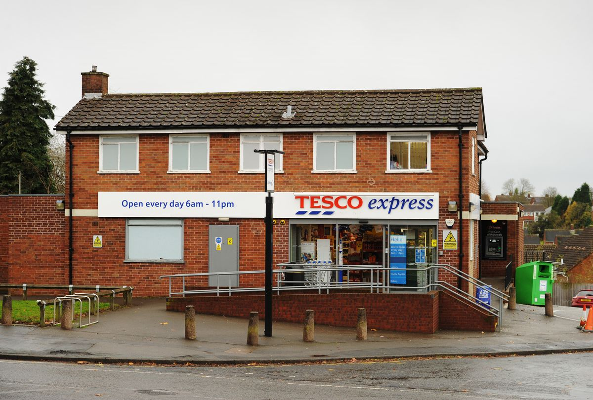 This Tesco Express in Hurst Road, Wolverhampton, was also targeted