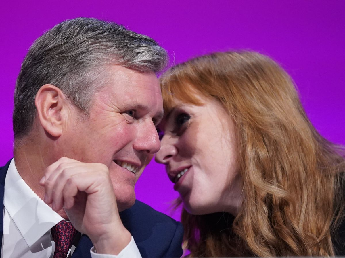 Sir Keir Starmer and Angela Rayner at the Labour Party conference in Brighton