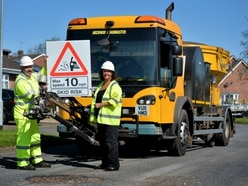 Potholes being zapped in £5m bid to repair Staffordshire roads - WATCH