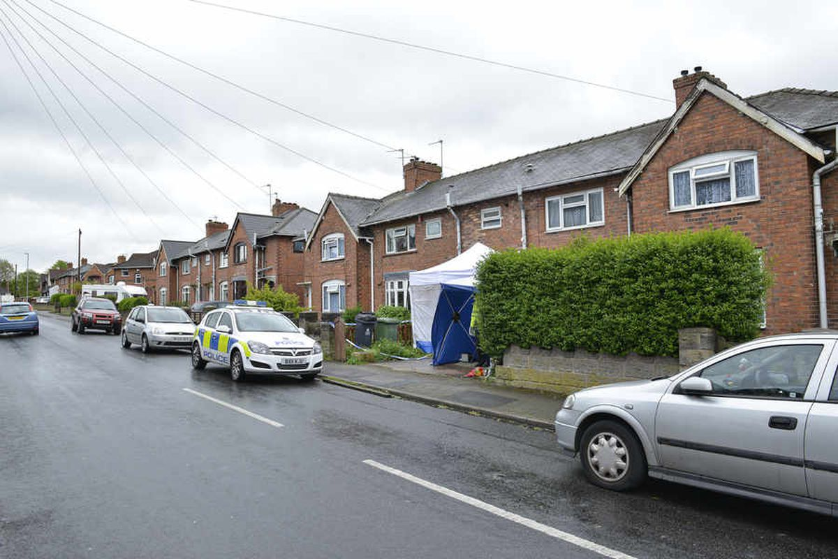 Police at the scene of the stabbing on Hollemeadow Avenue