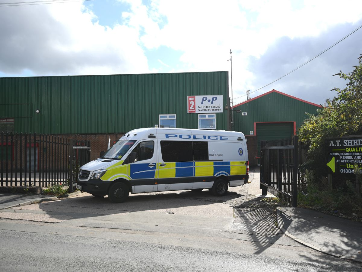 Police cordon in Brierley Hill