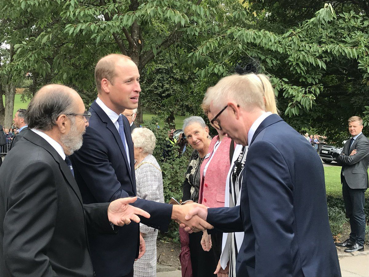 Prince William meets Black Country MPs Ian Austin and Margot James