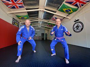 Ready to open the Gordo Jiu Jitsu Cannock gym's new unit are Ash Fletcher, left, and Trev Foster