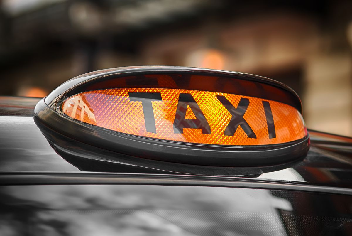 A taxi driver was attacked