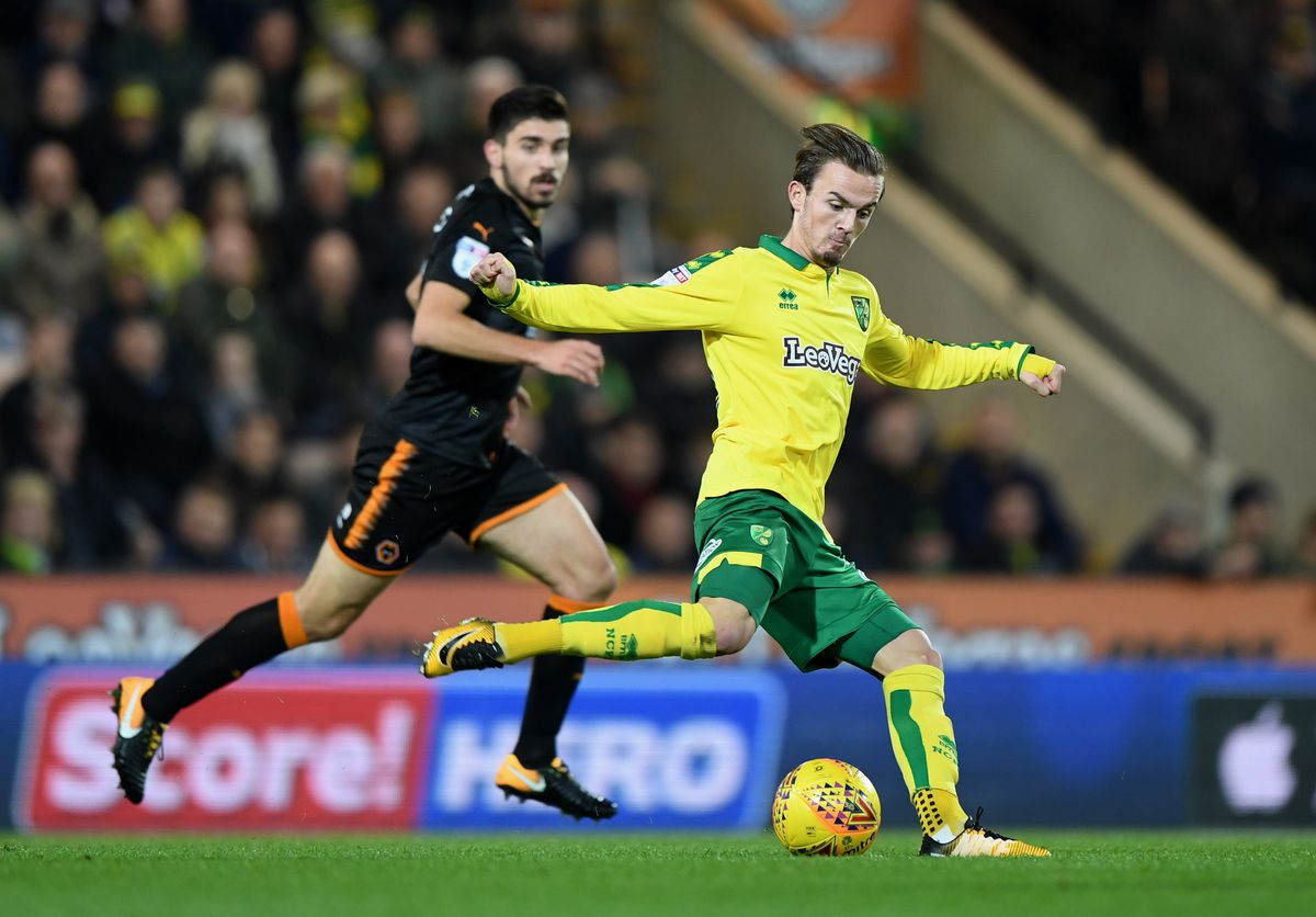 James Maddison in action against Wolves earlier this season (© AMA / Sam Bagnall)