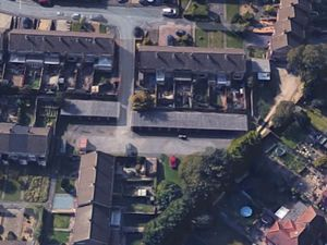 Aerial view of Marlborough Gardens, Wordsley Credit Dudley Council