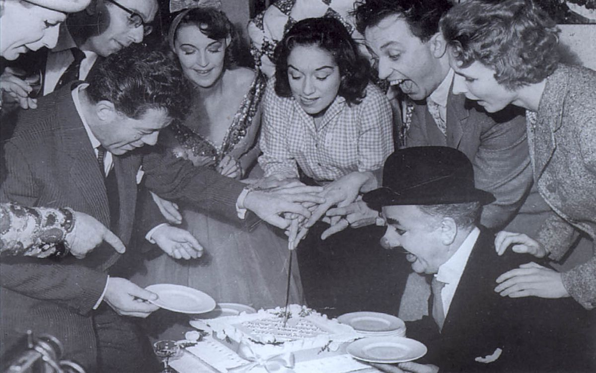 Ken Dodd was among those celebrating the Hippodrome's anniversary in 1957
