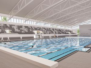 The new centre will host swimming and diving events for the Commonwealth Games