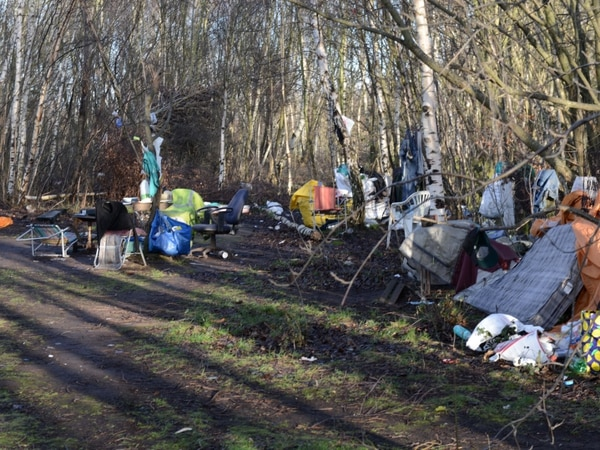 Rough sleepers set up village of tents off Stafford Road